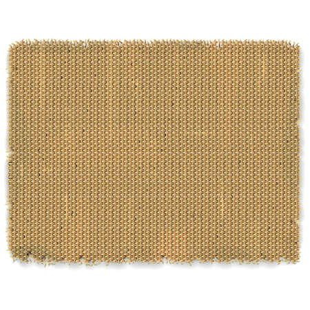 jute: Sackcloth Frame isolated on white background
