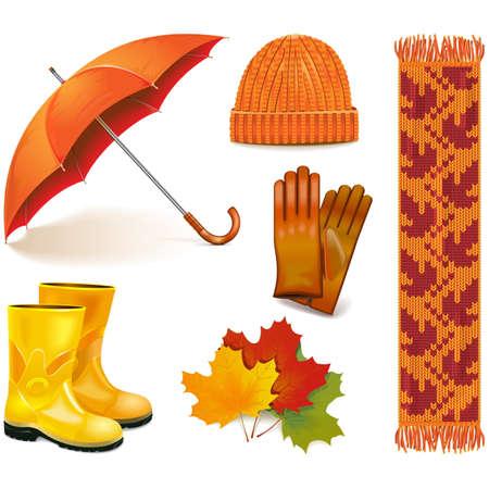 Autumn Icons isolated on white background