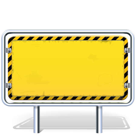 metal industry: Industrial Billboard isolated on white background