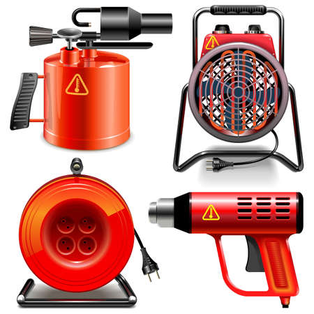hank: Vector Thermal Power Tools isolated on white background