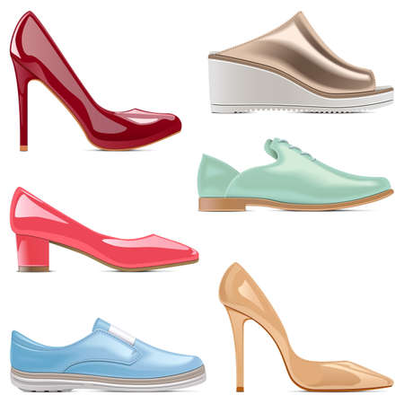 fashion shoes: Vector Fashion Shoes isolated on white background