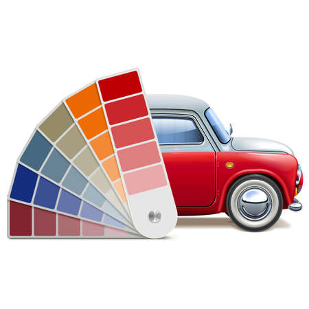 Vector Color Palette for Automobile isolated on white background Foto de archivo - 104825356