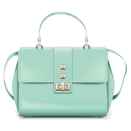 Vector Fashion Woman Handbag isolated on white background