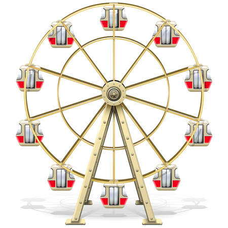 Vector Ferris Wheel isolated on white background Фото со стока - 108871529