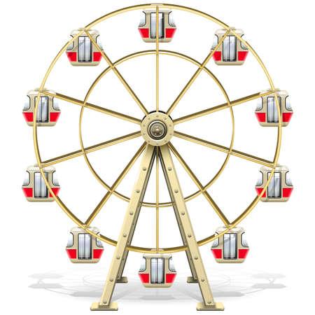 Vektor Riesenrad lokalisiert auf weißem Hintergrund