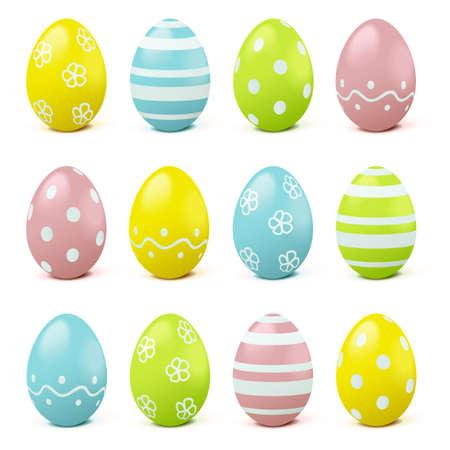 Vector Easter Eggs isolated on white background Иллюстрация