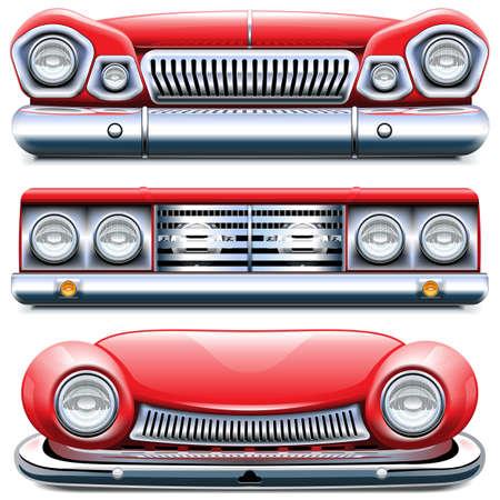 Vektor-Automobil-Frontend isoliert auf weißem Hintergrund