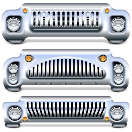 Front-end auto vettoriale isolato su sfondo bianco on