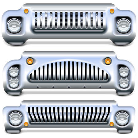 Vector Car Front End isolated on white background