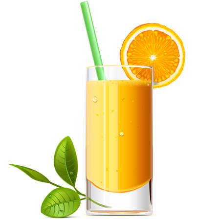 Vector Orange Juice isolated on white background
