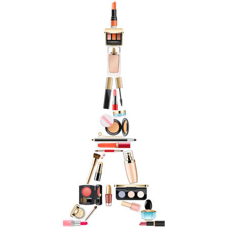 Vector Paris Cosmetic Concept isolated on white background Archivio Fotografico - 123015409