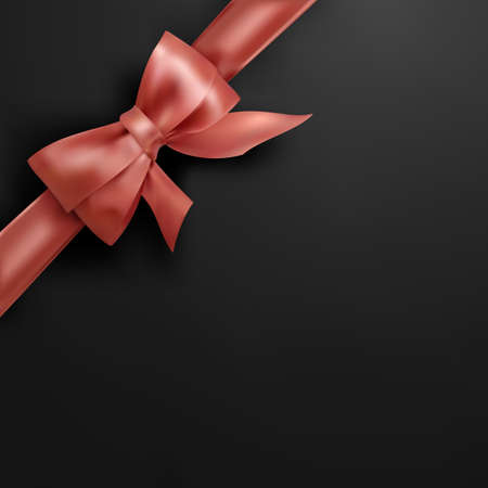 Vector Corner Bow isolated on Black Background 일러스트