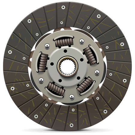 Vector Car Clutch Disk isolated on white background