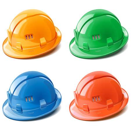 Vector Construction Helmet Kit isolated on white background Ilustracja