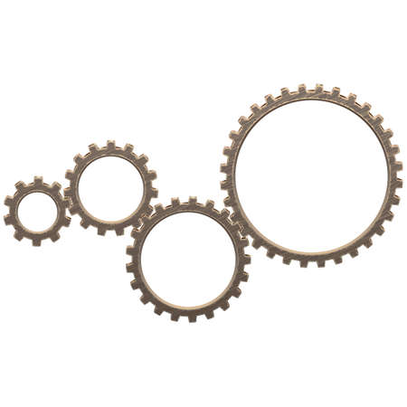 Vector Gearwheels Mechanism isolated on white background