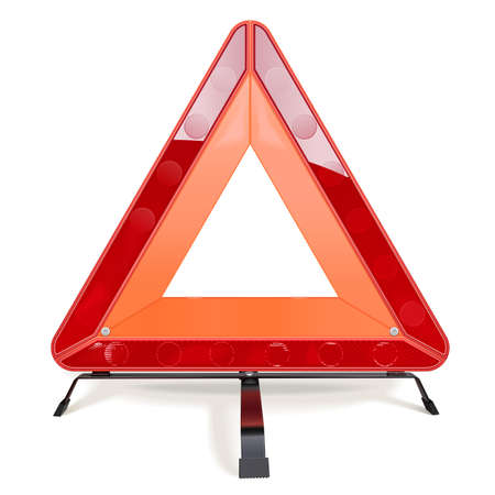 Vector Triangular Road Sign isolated on white background Ilustração