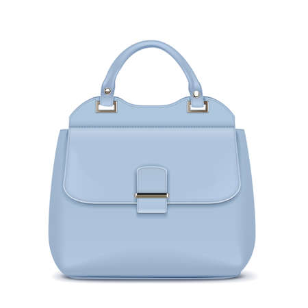 Vector Blue Female Handbag isolated on white background Ilustração