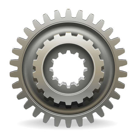 Vector Car Gearwheel isolated on white background Illustration
