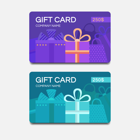 Gift Card Template. Vector Template For Design. Gift Voucher ...