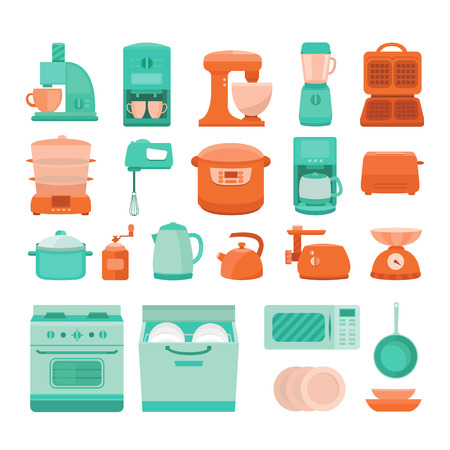 Illustration of kitchen appliances.