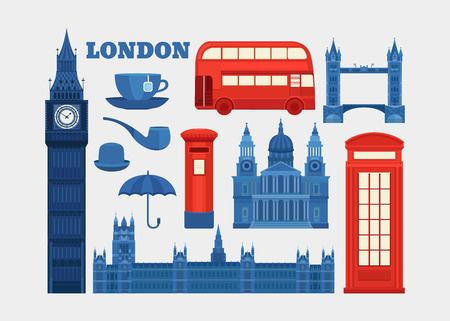 Vector set of London.