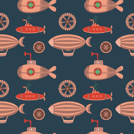 Seamless pattern steampunk. Illustration