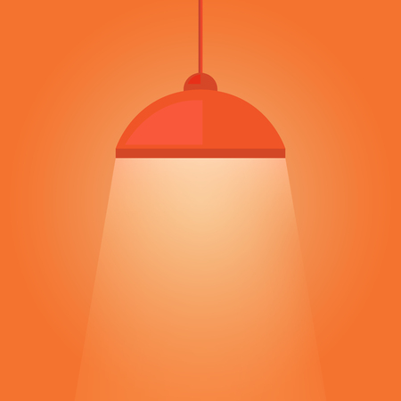 Hanging lamp luminous light Illustration