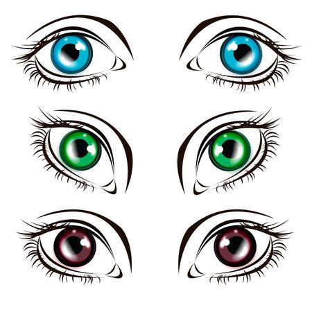 human eye: illustration eye human black eyeball look