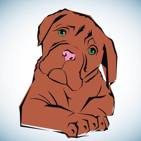 icon design dog emblem illustration concept