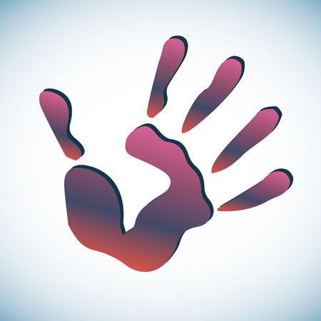 color hand handprint human print symbol Illustration