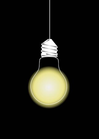 light yellow illustration poster black line