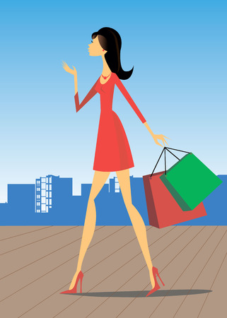 city girl shopping fashion style beautiful