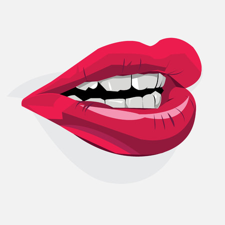 lipstick, red, lips, mouth, female, makeup