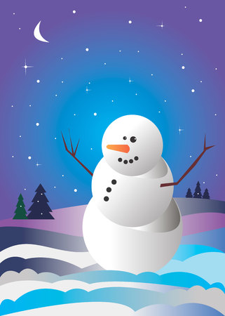 snowman xmas christmas illustration white holiday