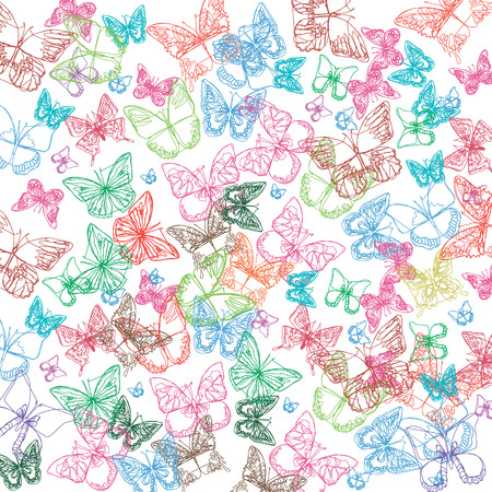 butterfly insect art white decorative color
