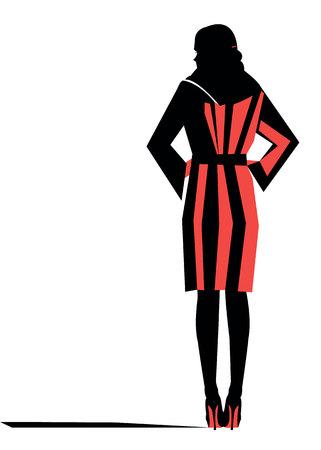 girl female stockings fashion illustration woman