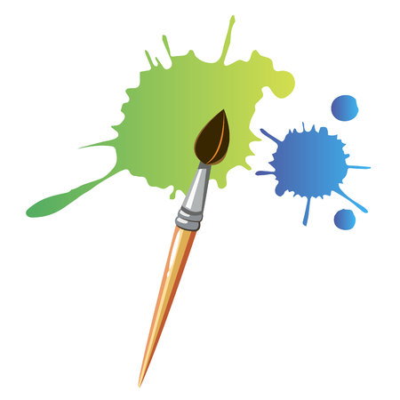 color paint brush abstract design background
