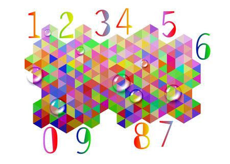 number design symbol numeral school sign Illustration