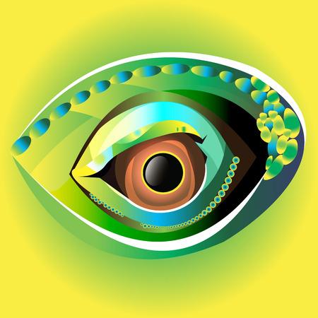 sexualidad: Ilustración ojo negro globo ocular mirar blanco Vectores