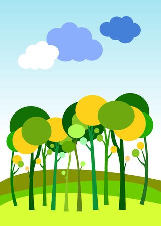landscape forest  illustration background silhouette tree