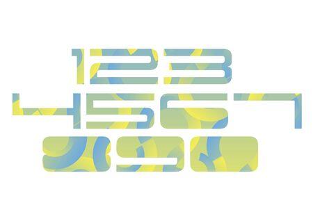 5.0: number design symbol numeral school sign Illustration