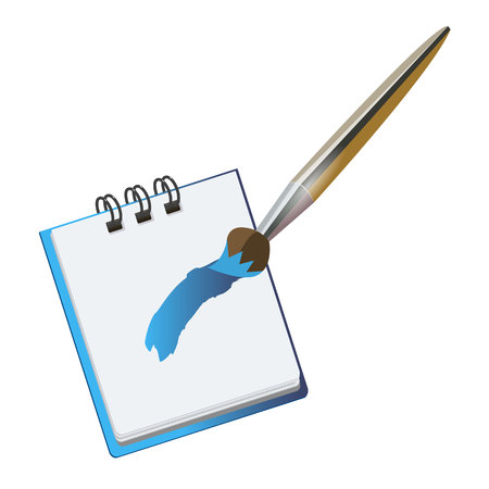 pencil notebook office notepad icon note