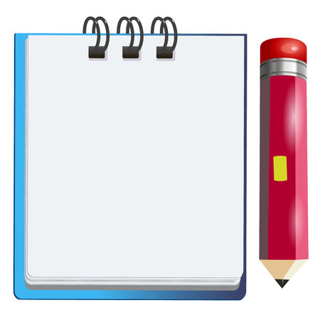 writing pad: pencil notebook office notepad icon note