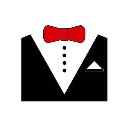 formalwear: vector tuxedo fashion bow tie black white Illustration