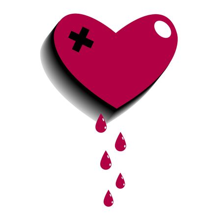 heart vector red symbol element love icon