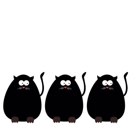 interesting: vector cats funny eyes tail legs claws