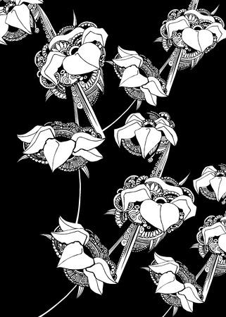 linearity: floral flower spring summer background botanical art