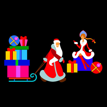 Holiday girl frost santa vector christmas claus snow snowflake winter
