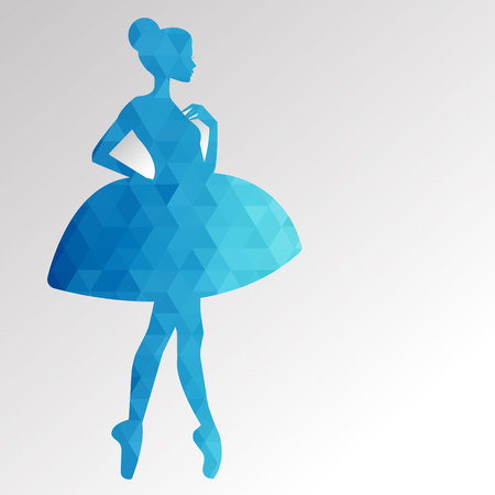 vector ballerina ballet illustratie danser dans mooi jurk meisje silhouet Stock Illustratie