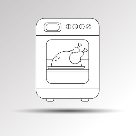 gas stove: Stove equipment cooking appliance cook home food kitchen oven illustration
